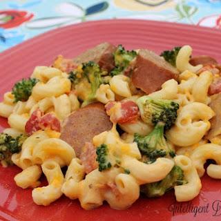 Crockpot Broccoli & Sausage Macaroni Casserole