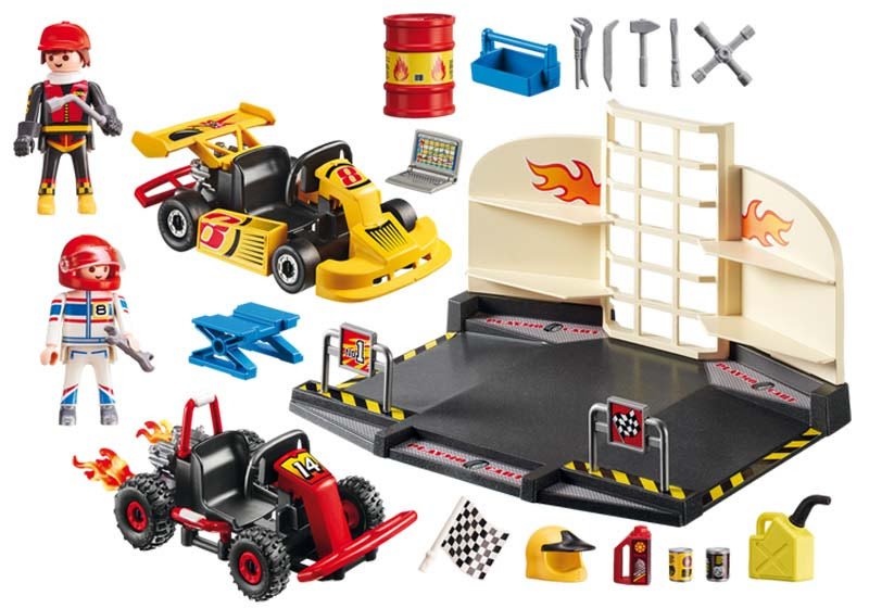 Contenido de Playmobil® 6869 Taller de Karts