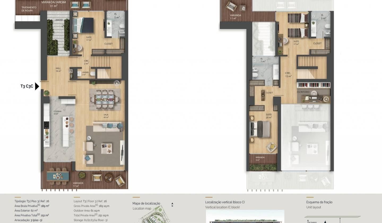Appartement avec terrasse et piscine Cascais