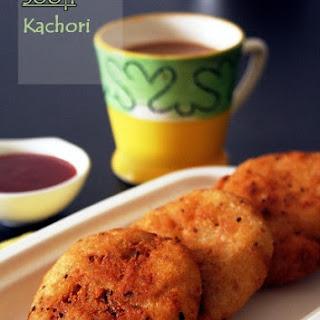 Sooji Kachori with aloo stuffing.