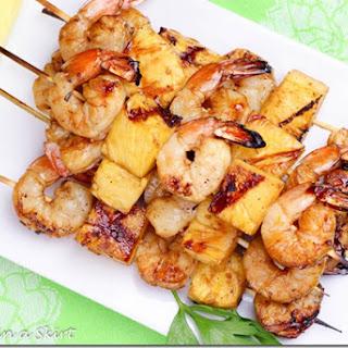 Shrimp Pineapple Kabobs.