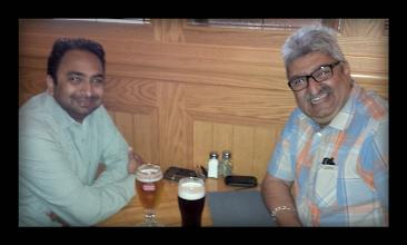 Photo: CIEC CEO Husain F. Neemuchwala with Nick Noorani, Social Entrepreneur & Founder of Canadian Immigrant Magazine.