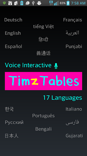 TimzTables 2-12 Times Tables