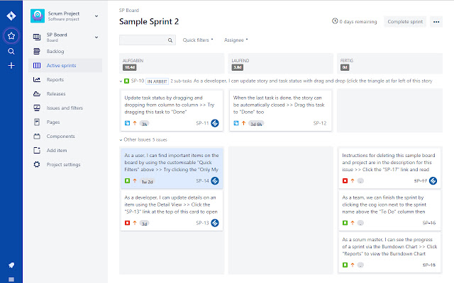 Estimations sum for Jira boards