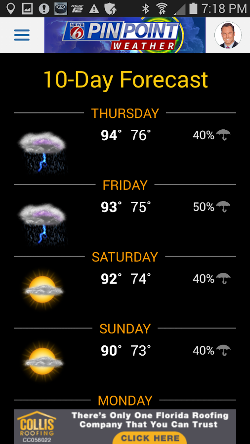 News 6 Pinpoint Weather- screenshot