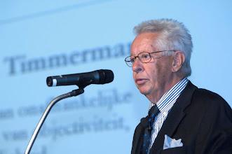 Photo: Prof. dr. H. Timmerman tijdens de uitreiking van de Galenus Geneesmiddelenprijs en Galenus Researchprijs 2009 in Leidenfoto © Bart Versteeg