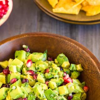 Avocado and Pomegranate Guacamole.