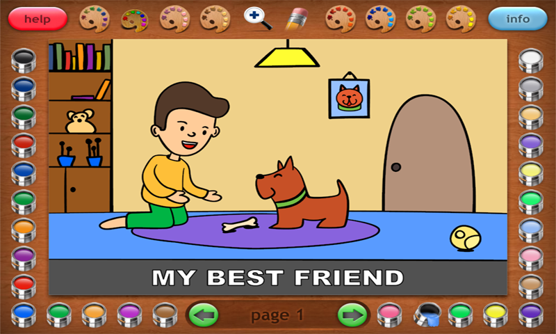 Coloring Book 32 Jim & His Dog- screenshot