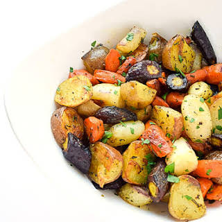 Herb Roasted Potatoes & Carrots.