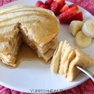 Healthy {Skinny} Oatmeal Pancakes Recipe