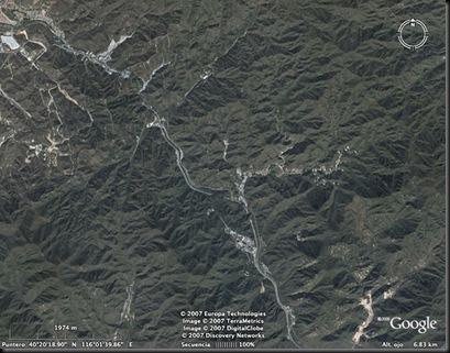 muralla china desde espacio