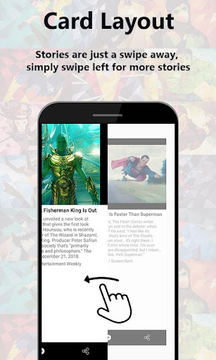 Superhero Bulletin: Short n Simple Superhero News 1.0.25 screenshots 2