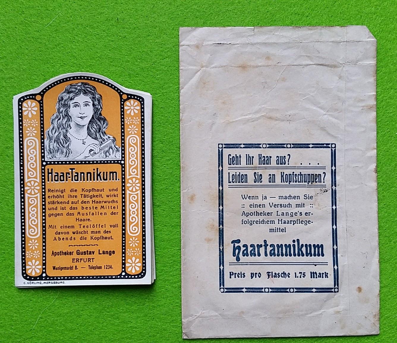 Apotheke Lange's Haar-Tannikum