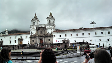 Photo: Day 4: Old Quito, this is the San Fransiscan church in Quito. It used to be a monestary as well, but the tour guide says no one wants to do that anymore.
