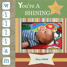 Photo: Created 9/8 for Kelli's friend Brandon - this is his son. I scraplifted this from http://tinyurl.com/res3j. Mine is made from Melany Violette's Shining Star Kit - with the letters coming from Melany Violette's Camel Blue Kit.