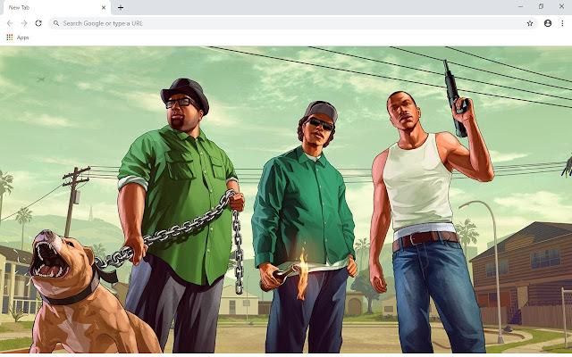 GTA San Andreas Wallpapers and New Tab