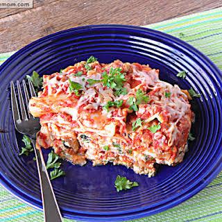 Lightened Up Crock Pot Lasagna [Gluten Free].