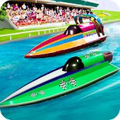 Speed Boat Racing Icon