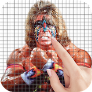 The Ultimate Warrior Color by Number - Pixel Art
