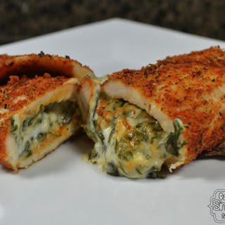 Spinach Dip Stuffed Chicken Breast