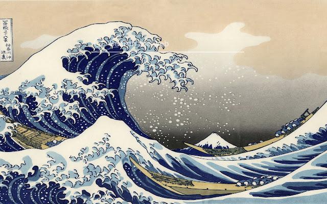 Hokusai's Wave HD Wallpapers New Tab Theme