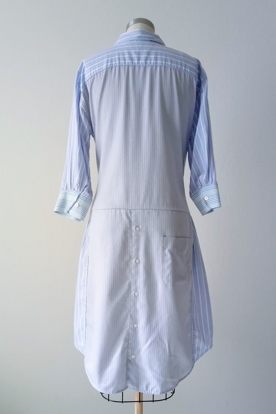 Shirt Dress with Bow Detail - DIY Fashion project | fafafoom.com