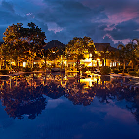 A Relaxing Overnight Stay by Mert Docdor - Landscapes Travel ( water, reflection, pool )