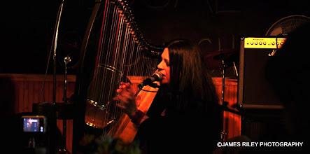 Photo: Haunting performance on the harp.