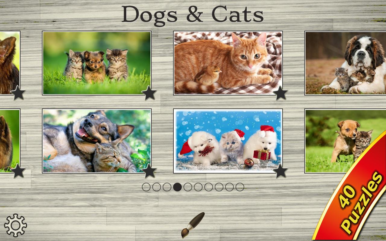 Dogs vs Cats: Kid Puzzle Games- screenshot