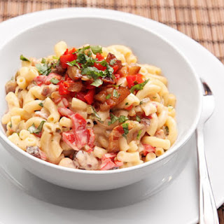 Bacon and Pimento Macaroni and Cheese.