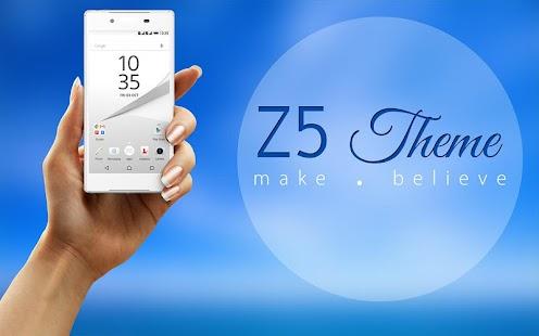 Z5 launcher a téma - náhled