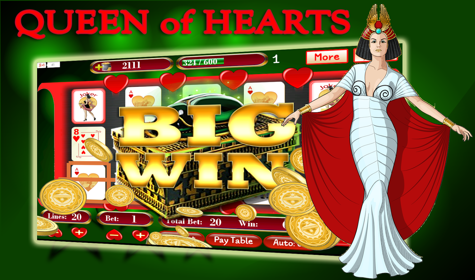 free online slot machine queen of hearts online spielen