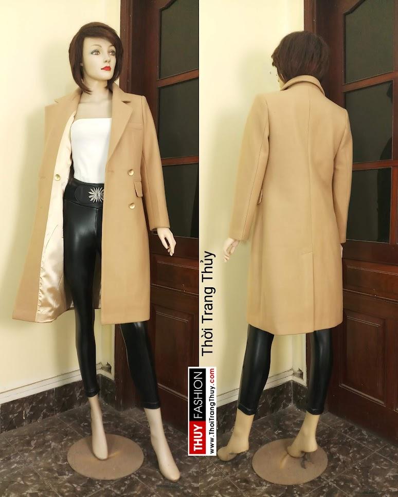 Áo khoác dạ nữ dáng dài màu lạc đà V665 tại Đà Nẵng