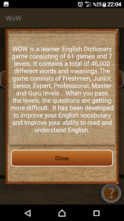 WOW English Dictionary Game - náhled
