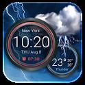 Weather Widget with Alarm Clock icon