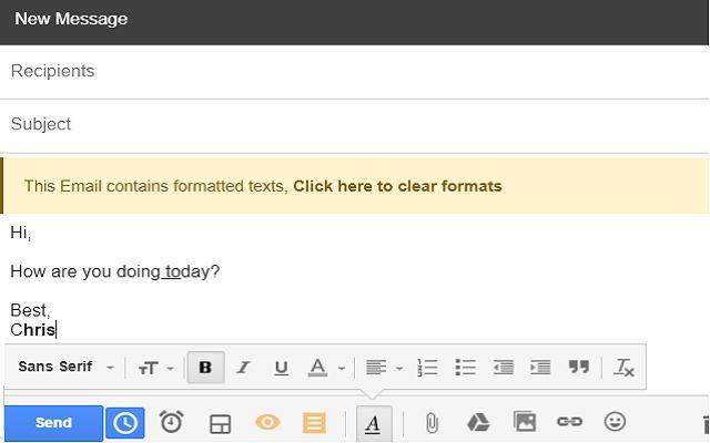 Gmail unformatter