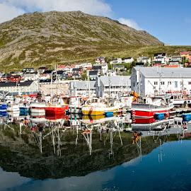 Tromso by Richard Michael Lingo - City,  Street & Park  Neighborhoods ( reflection, tromso, city, norway, neighborhood )