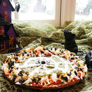Creepy Halloween Mexican Layered Dip.