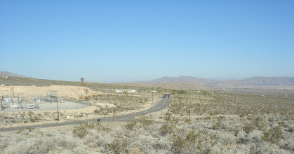 Photo: Highway 18; Western boundary of study site. Hilltop to the east of junction of Camp Rock Road and Highway 18 by the cement plant