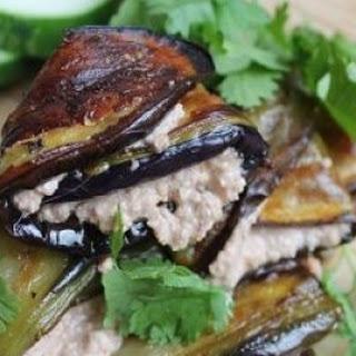 Georgian Eggplant Rolls with Walnut-Garlic Filling
