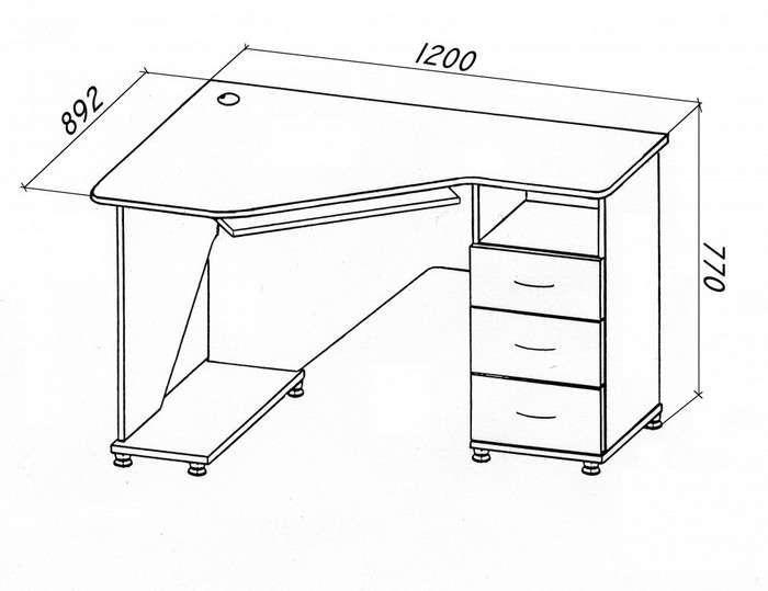 Компьютерный столик для маленькой комнаты