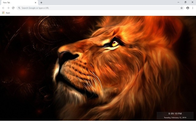 Lion New Tab & Wallpapers Collection