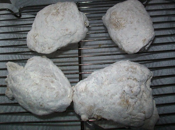 Once you bread the chicken, let it sit out on a cooling rack for...