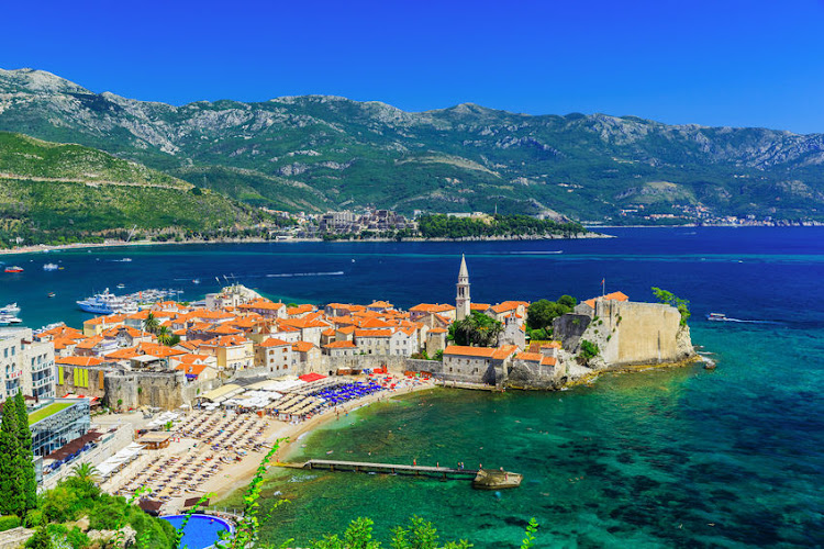The old town Budva in Montenegro.