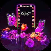 Flower Edge Borderlight Live Wallpaper