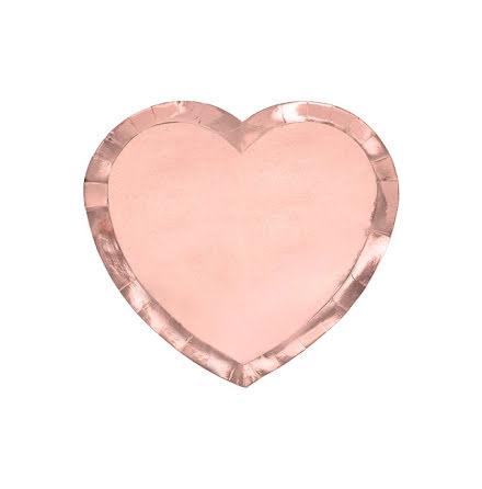 Tallrikar hjärta - Roséguld