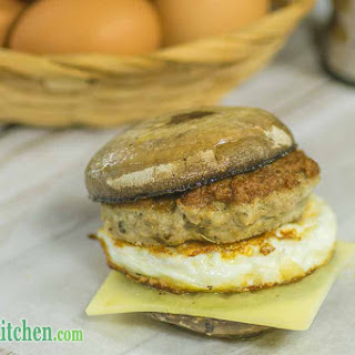 Low Carb Sausage and Egg Mushrooms