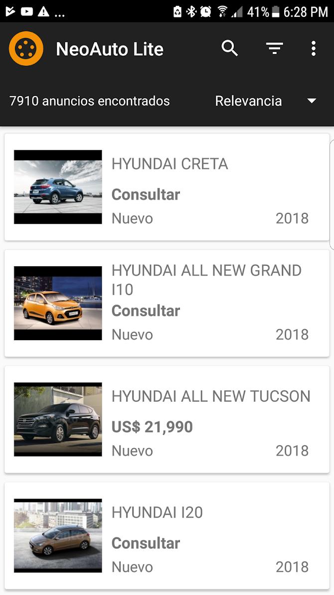 Neoauto Lite - Venta de autos Android 1