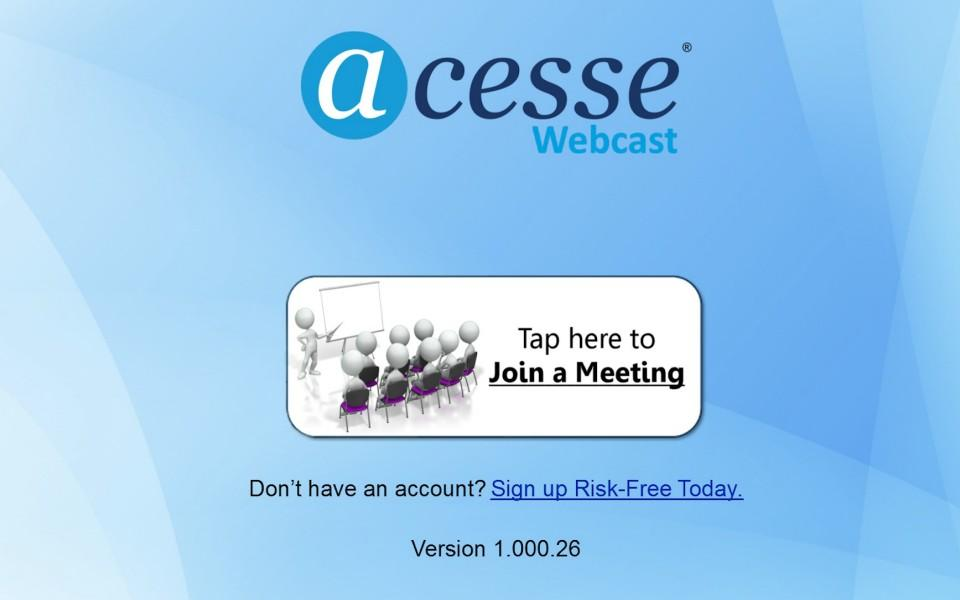 Acesse Webcast- screenshot