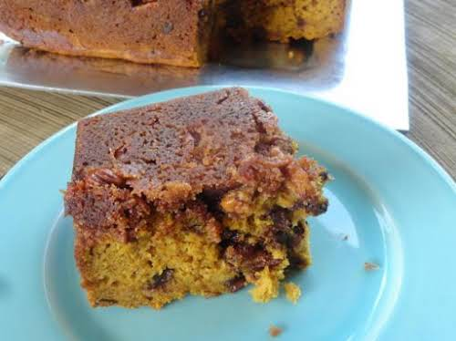 "Pecan Crusted Pumpkin loaf (with Rum & Chocolate Chips) ""This is a..."